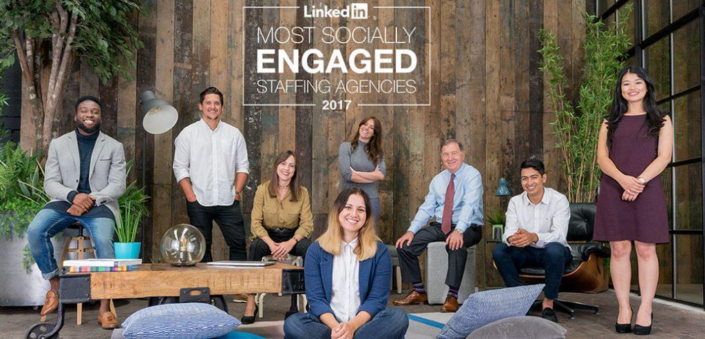 linkedin most-engaged-staffing-hero